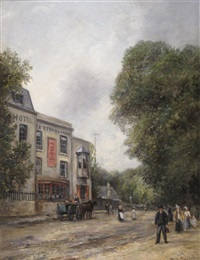 jack straw's castle, hampstead by frederick j. sang