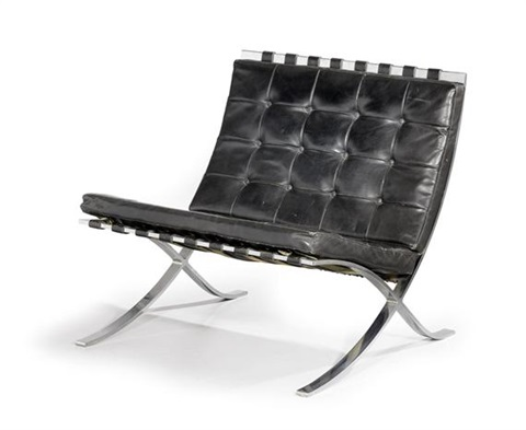 Chaise Barcelona Model Mr 90 By Ludwig Mies Van Der Rohe