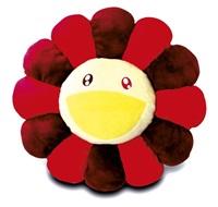flower cushion red and yellow by takashi murakami