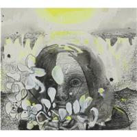 girl with flowers by dana schutz