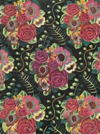 bouquets de roses etude de tissus by raoul dufy