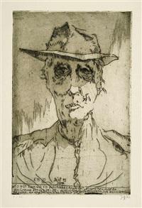 porträt felix von bethmann-hollweg - der junge dürer (2 works) by horst janssen