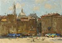 riga city square, summer by valeriana zholtok