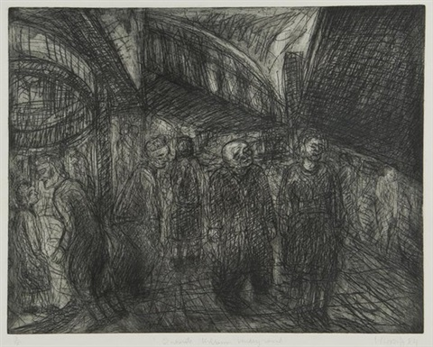 outside kilburn underground by leon kossoff