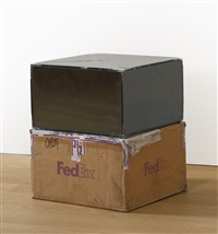 fedex medium kraft box (c) fedex 157872 rev 10/05 sscc, international priority, los angeles-brussels trk # 898775903583, january 6-9, 2012, international priority, oostende-new york, trk # 770729550804, august 1-5, 2014 (in 2 parts) by walead beshty