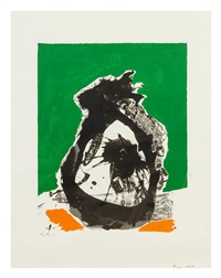 untitled (from the basque suite,) by robert motherwell