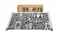 parcours (set of 12) by jean dubuffet