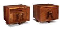 kornblut nightstands (2 works) by mira nakashima-yarnall