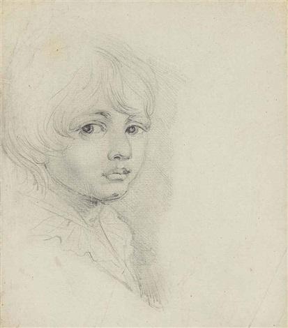 portrait of george cruikshank bust length by john opie
