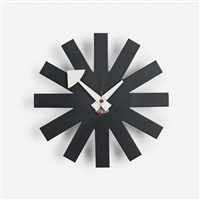 asterisk wall clock, model 2213 by george nelson & associates