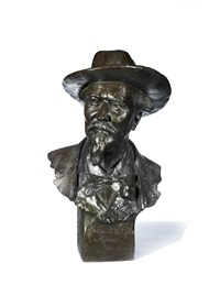 bust of frederic mistral (1830-1914) by jean georges pierre achard