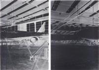 frankfurt airport xv: hangar 5: may 7-12 (2 works) by vera lutter