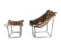 sessel buffalo mit ottoman (set of 2) by kwok hoi chan