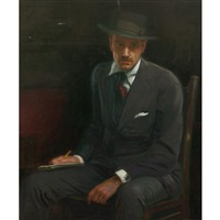 self-portrait by ernest martin hennings