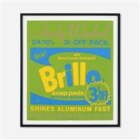 brillo exhibition poster for the pasadena art museum by andy warhol