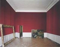 self-portrait of the king's portraitist, the first antechamber of madame victoire, château de versailles, 1985 by robert polidori