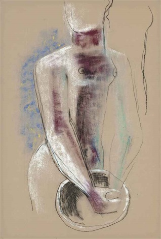 woman with a bowl by frank dobson