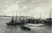 sailboats by jean paul anglade