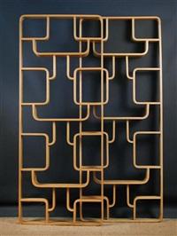 claustras room divides/shelves (pair) by drevopodnik holesav