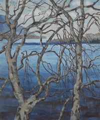 silver birches by mabel young