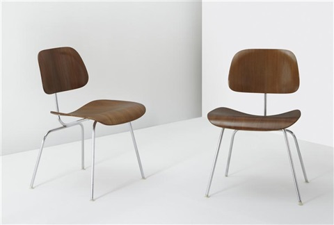 dcm dining chair metal chairs pair by charles and ray eames