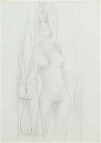 stehender weiblicher akt by robert angerhofer