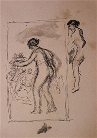 femme au cep de vigne, 4th variant by pierre-auguste renoir