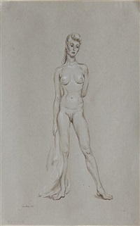 standing female nude by paul cadmus