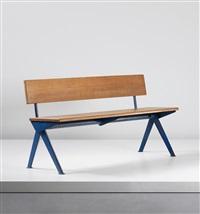 marcoule bench (from the centre d'études atomiques, marcoule) by jean prouvé
