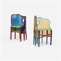 open sky crosby chairs (pair) by gaetano pesce