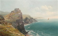 coastal view on a summer's day by j.b. allan