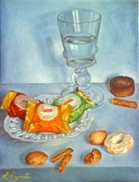 still life with desserts by sylvie reynart