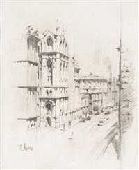 collins street melbourne by lloyd frederic rees