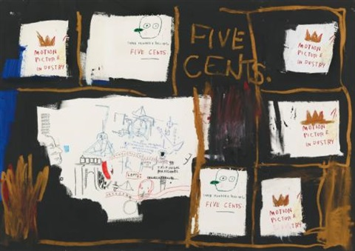 five cents by jean michel basquiat