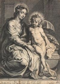 madonna con jesús junto a la cuna by erasmus quellinus the younger