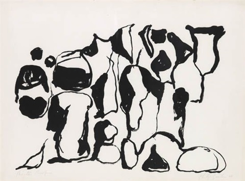 untitled from a suite of ten lithographs by philip guston