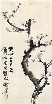 白梅 by xie zhiliu
