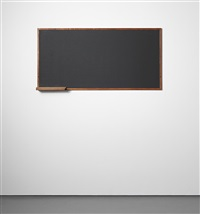 blackboard with chalk holder, designed for la chambre d'ètudiant de la maison du brésil, cité internationale universitaire de paris by le corbusier