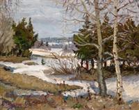 eine winterlandschaft by boris belyaninov