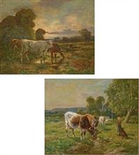 vaches dans un pré (2 works) by adrien gabriel voisard-margerie