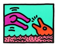 untitled, plate i (from pop shop v) by keith haring