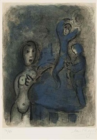 rahab and the spies of jerico by marc chagall