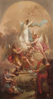 l'assomption de la vierge by guillaume-joseph roques