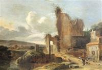 paysage animé avec ruine de château by charles cornelisz de hooch