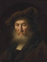 head of an old man, bust-length by salomon koninck