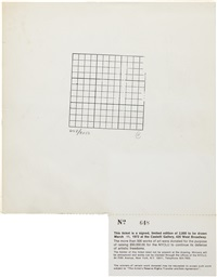 untitled (ticket for nyclu fundraiser at castelli gallery) by carl andre
