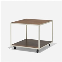 angle iron rolling table, model 5152 by george nelson & associates