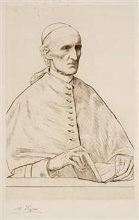 s. e. le cardinal manning, archevêque de westminster by alphonse legros