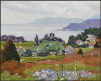 murray bay, view from cap a l'aigle by randolph stanley hewton