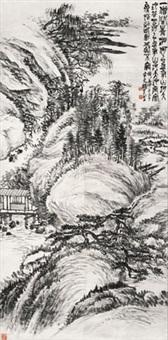 丘壑 立轴 水墨纸本 by zhao yunhe